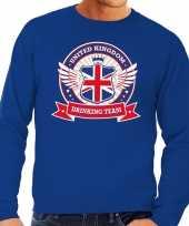 Feest blauwe engeland drinking team sweater heren