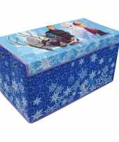 Feest blauwe frozen disney speelgoed opbergbox 76 cm
