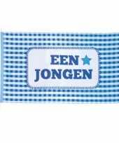 Feest blauwe geboorte vlag jongen 90 x 150 cm