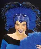 Feest blauwe hoofdtooi voor volwassenen