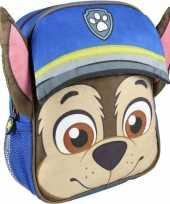 Feest blauwe paw patrol rugtas rugzak chase 23 x 28 cm voor jongens