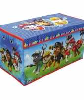 Feest blauwe paw patrol speelgoed opbergbox 76 cm