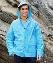 Feest blauwe regenjas splash voor volwassenen