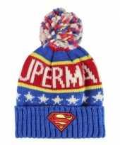 Feest blauwe superman muts voor jongens