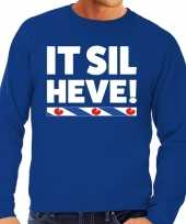 Feest blauwe trui sweater friesland it sil heve heren