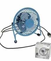 Feest blauwe usb ventilator 15 cm