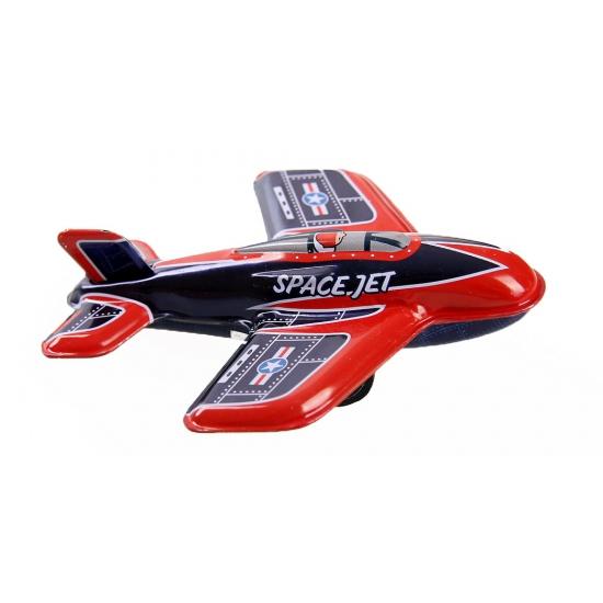 Feest blikken vliegtuigje space jet 11 cm