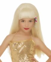 Feest blonde pamela pruik voor meisjes