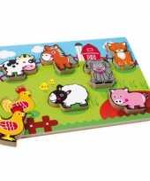 Feest boerderijdiertjes puzzel