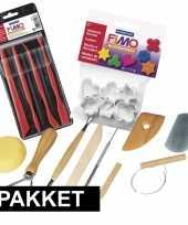 Feest boetseer klei gereedschap en vormpjes pakket