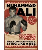Feest boks thema poster muhammad ali