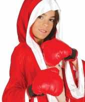 Feest bokser verkleed hanschoenen rood voor kinderen