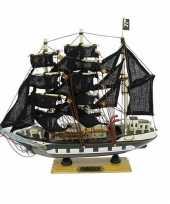 Feest boot piraat op houten voet 24 cm