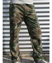 Feest broek met groene leger print