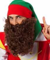 Feest bruine baard met elastiek