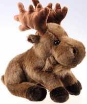 Feest bruine elanden knuffels 35 cm