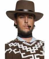 Feest bruine heren cowboyhoeden