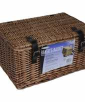 Feest bruine picknick manden 45 x 30 x 25 cm