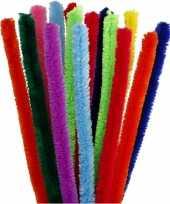 Feest buigzaam chenilledraad kleuren 30 cm 15 st