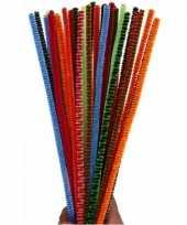 Feest buigzaam chenilledraad kleuren 30 cm 30 st