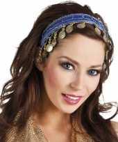 Feest buikdanseres hoofdband diadeem kobalt blauw dames verkleedaccess
