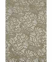 Feest buiten tafelkleed tafellaken grijs 140 x 260 cm rechthoekig