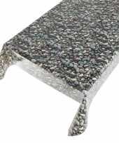Feest buiten tafelkleed zeil stenen motief 140 x 170 cm