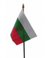 Feest bulgarije vlaggetje met stokje