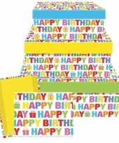 Feest cadeaudoosje happy birthday 17 5 cm
