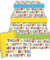 Feest cadeaudoosje happy birthday 26 cm