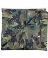 Feest camouflage dekzeil groen 2 85 x 4 meter
