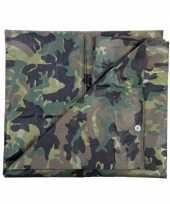 Feest camouflage dekzeil groen 5 x 6 meter
