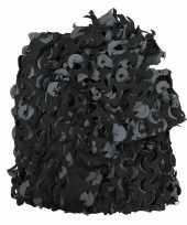 Feest camouflagenet zwart grijs 3 x 2 4 meter
