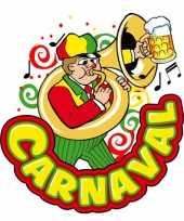 Feest carnaval decoratiebord muzikant 35 x 40 cm