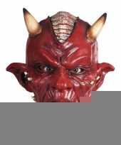 Feest carnaval duivel masker lucifer met hoorns volwassenen