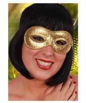 Feest carnaval oogmasker in de kleur goud