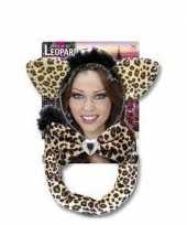 Feest carnaval verkleedset luipaardje voor volwassenen