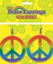 Feest carnavals hippie oorbellen