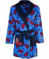 Feest cars fleece badjas blauw voor jongens