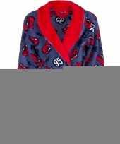 Feest cars fleece badjas rood blauw voor jongens