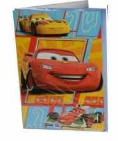 Feest cars verjaardagskaart 26 cm