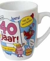 Feest cartoon mok 40 jaar vrouw