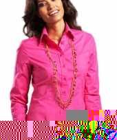 Feest casual fuchsia overhemd voor dames