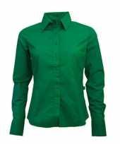Feest casual groen overhemd voor dames