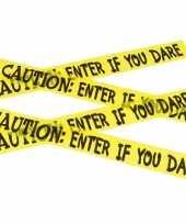 Feest caution decoratielint geel 6 meter