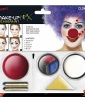 Feest clown schmink set inclusief clownsneus