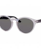 Feest clubmaster dames zonnebril transparant model 7002