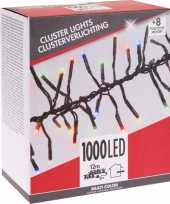 Feest clusterverlichting budget gekleurd buiten 1000 lampjes