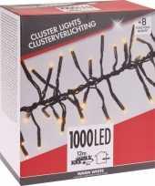 Feest clusterverlichting budget warm wit buiten 1000 lampjes