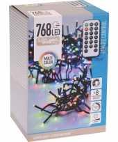 Feest clusterverlichting op afstandbediening kleur buiten 768 lampjes